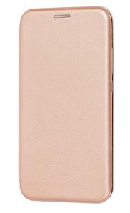 Чехол (книжка) премиум для Xiaomi Redmi Note 7 золотая