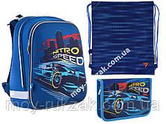 """Набор: рюкзак ортопедический + сумка для обуви + пенал «YES» """"Nitro Speed"""" H-12, 555958-1"""