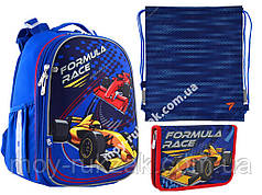 "Набор: рюкзак ортопедический + сумка для обуви + пенал H-25 ""Formula Race"" «Yes», 556185-1"