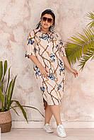 Платье-рубашка батальное , фото 1