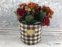 Подарочный букет цветов в мешочке красивый подарок на любой праздник декор