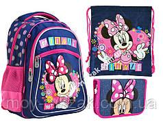 "Набор: рюкзак ортопедический + сумка для обуви + пенал S-26 ""Minnie"" «YES», 556237-1"