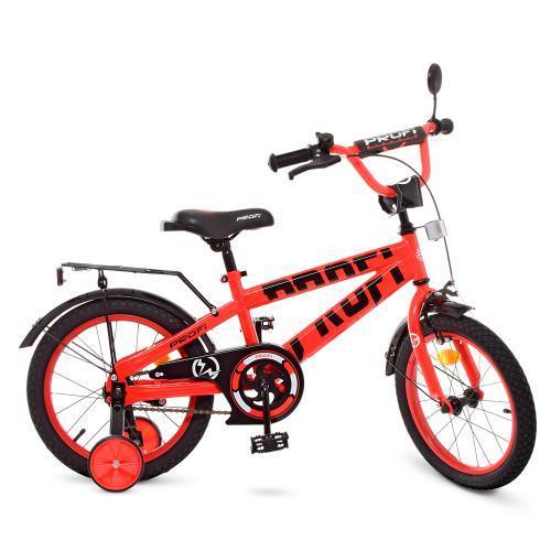 Велосипед детский PROF1 16Д. T16171 Flash красный