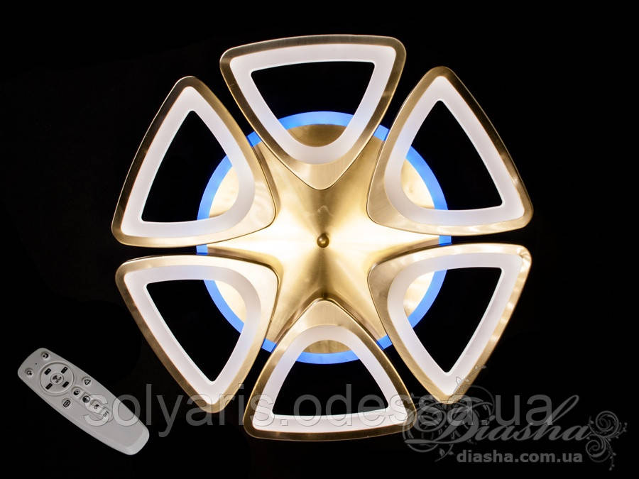 Потолочная LED-люстра с диммером и подсветкой, 85W 3007/6BR LED dimmer