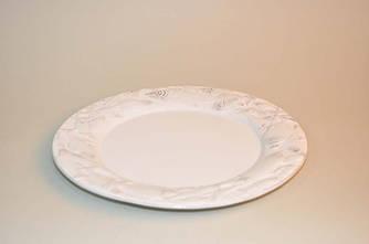 Керамическая тарелка белого цвета (Рыба)
