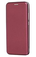 Чехол (книжка) премиум для Xiaomi Redmi 7 бордо (марсала)