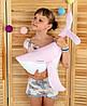 "Декоративная подушка ""Кит"" 60х28 (розовый/белый) ТМ ""Хатка"" (700005)"