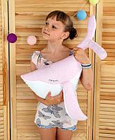 "Декоративная подушка ""Кит"" 60х28 (розовый/белый) ТМ ""Хатка"" (700005), фото 1"