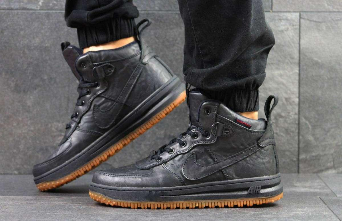 Кроссовки мужские Nike Lunar Force 1 темно синие 4353