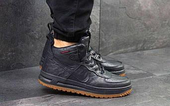 Кроссовки мужские Nike Lunar Force 1 темно синие 4353, фото 3