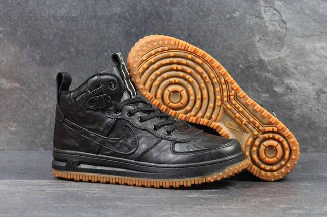 Кроссовки мужские Nike Lunar Force 1 черные 4350, фото 2