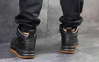 Кроссовки мужские Nike Lunar Force 1 черные 4350, фото 3