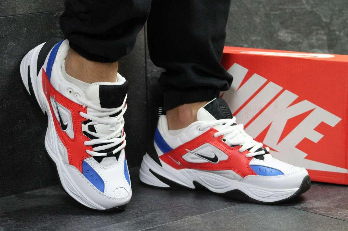 Кроссовки мужские белые с красным Nike М2K Tekno 6239
