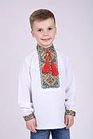 Стильная вышиванка для мальчика на длинный рукав. Размеры 98 -152