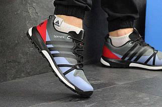 Кроссовки мужские серые с красным Adidas Terrex Boost 4621, фото 3