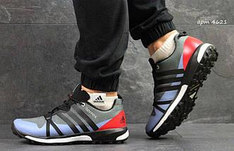 Кроссовки мужские серые с красным Adidas Terrex Boost 4621, фото 2