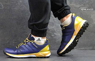 Кроссовки мужские синие с золотом Adidas Terrex Boost 4622, фото 3