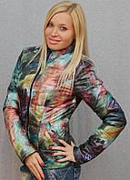 Куртка демисезонная с цветочным принтом