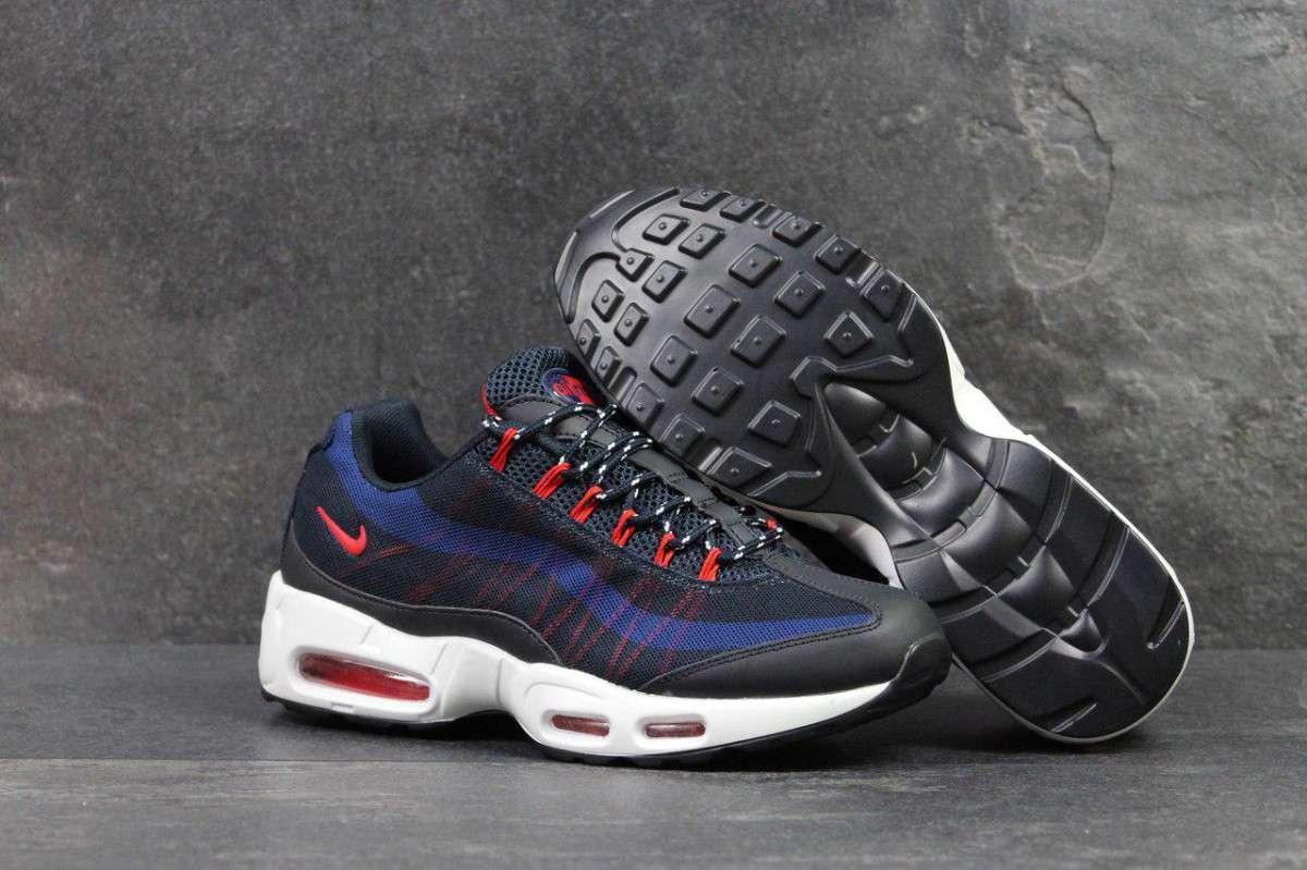 Кроссовки мужские темно синие с белым Nike 95 4794