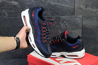 Кроссовки мужские темно синие с белым Nike 95 4794, фото 3