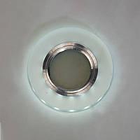 Точечный светильник со встроенной LED подсветкой 3Вт под лампочку MR16 СветМира  D-7124GS