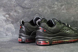 Кроссовки мужские черно-красные Nike Air Max 98 x Supreme 6170, фото 2