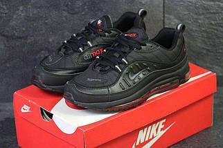 Кроссовки мужские черно-красные Nike Air Max 98 x Supreme 6170, фото 3