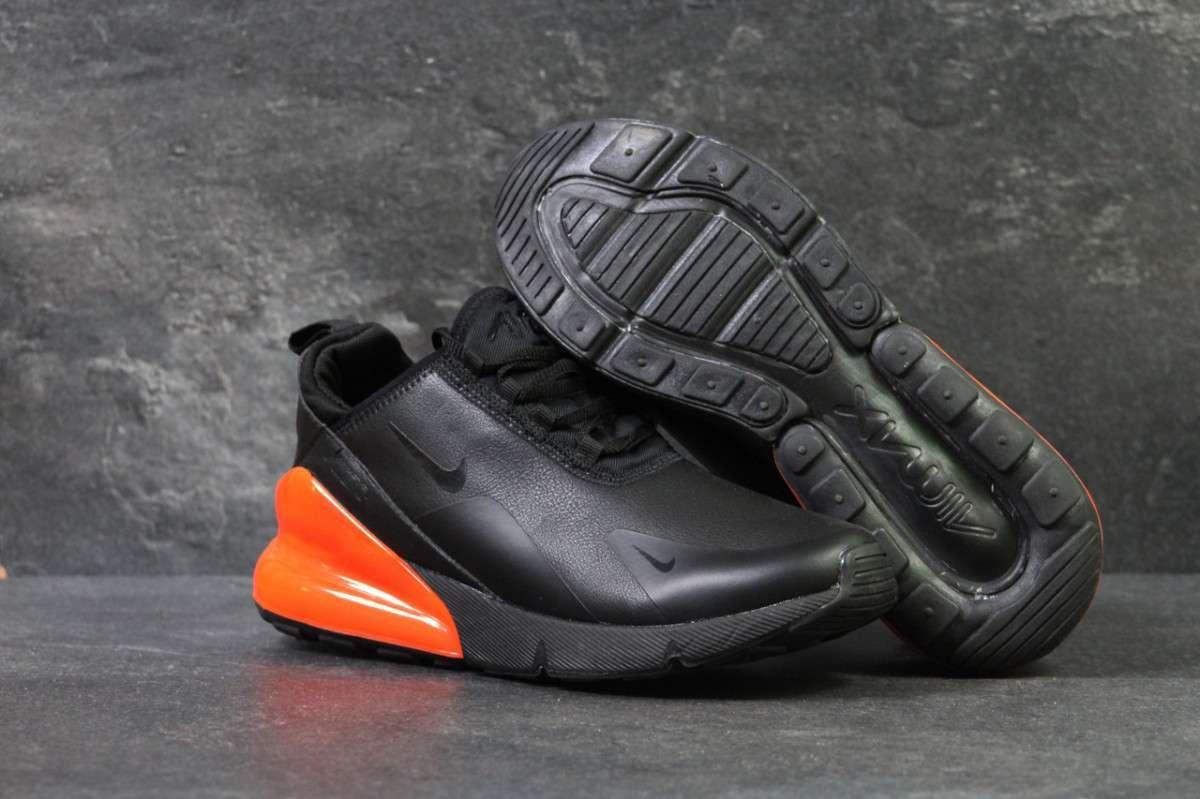 Кроссовки мужские черно-оранжевые Nike Air Max 270 6198