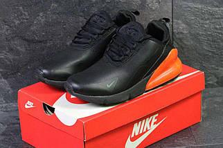 Кроссовки мужские черно-оранжевые Nike Air Max 270 6198, фото 3