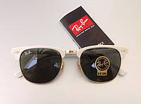 Солнцезащитные очки RAY BAN 3016 clubmaster white LUX