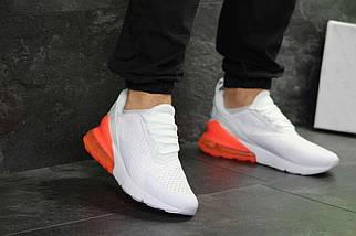 Мужские кроссовки белые с оранжевым Nike Air Max 270 7195, фото 2