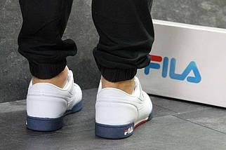 Мужские кроссовки белые с темно синим Fila РП-6333, фото 2