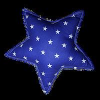 """Декоративная подушка """"Звезда"""" 40х40 (синий/белый) ТМ """"Хатка"""" (700041)"""