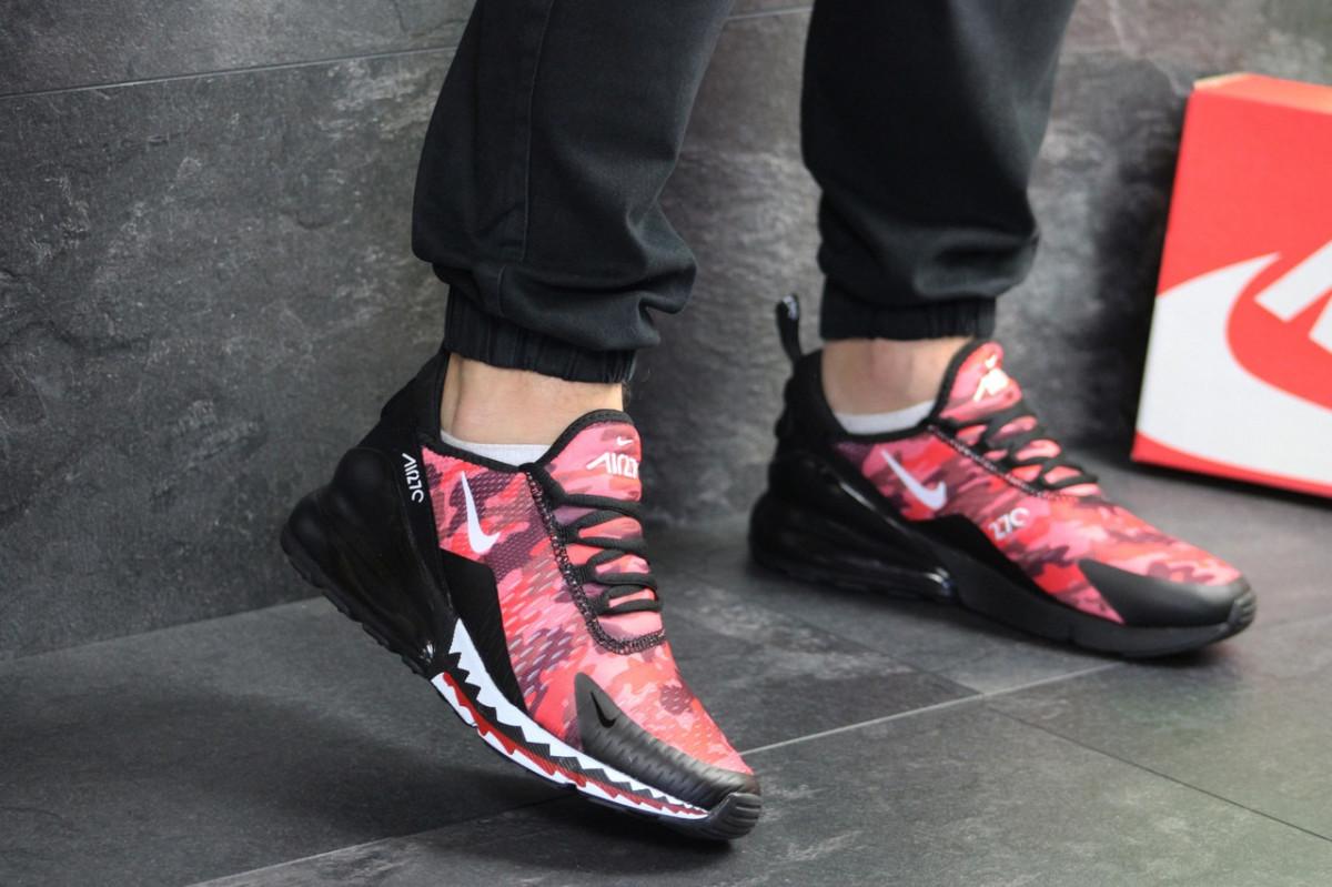 Мужские кроссовки красные с черным Nike Air Max 270 7628