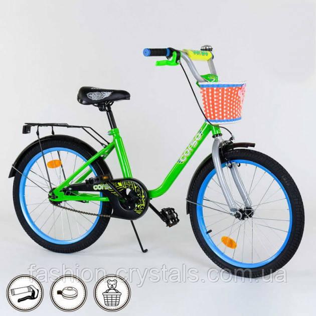 """Детский велосипед с корзинкой Corso бьюти 20"""""""