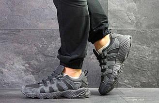 Мужские кроссовки серые Asics 7184, фото 3