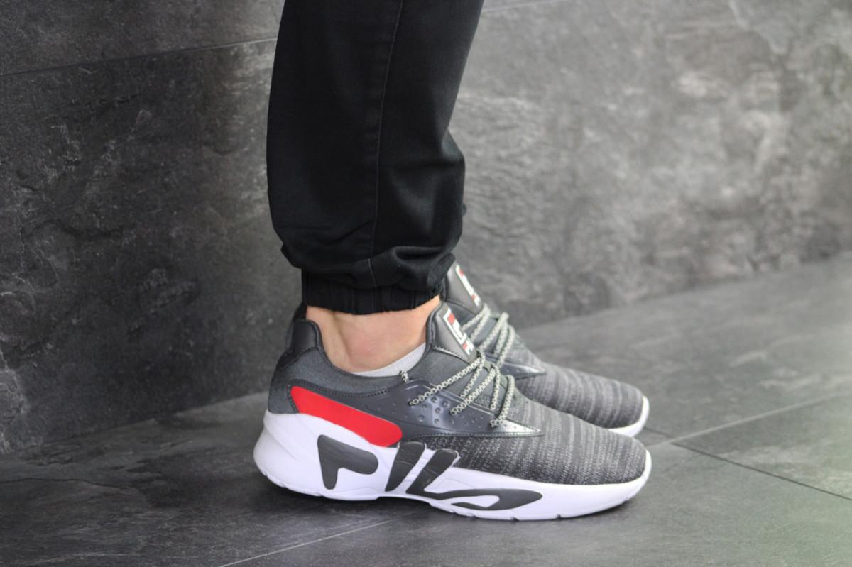 Мужские кроссовки серые Fila 8018