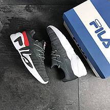 Мужские кроссовки серые Fila 8018, фото 2