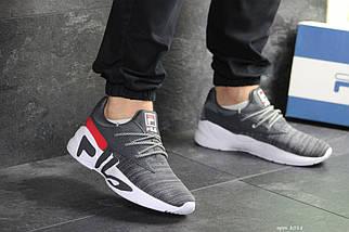 Мужские кроссовки серые Fila 8018, фото 3