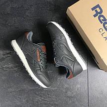 Мужские кроссовки серые Reebok 7439, фото 3