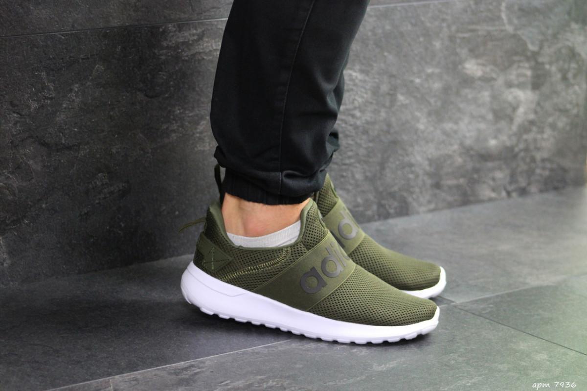 Мужские кроссовки темно зеленые Adidas 7936
