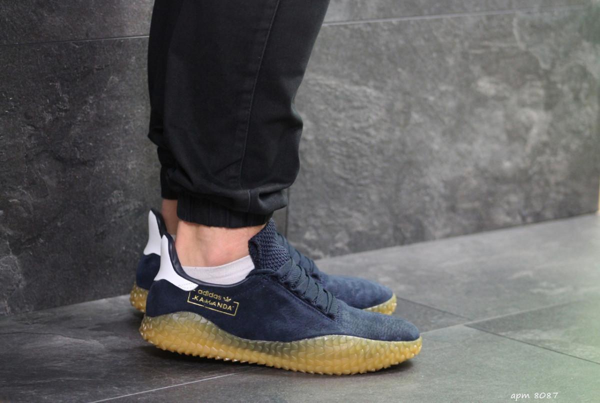 Мужские кроссовки темно синие Adidas Kamanda 8087