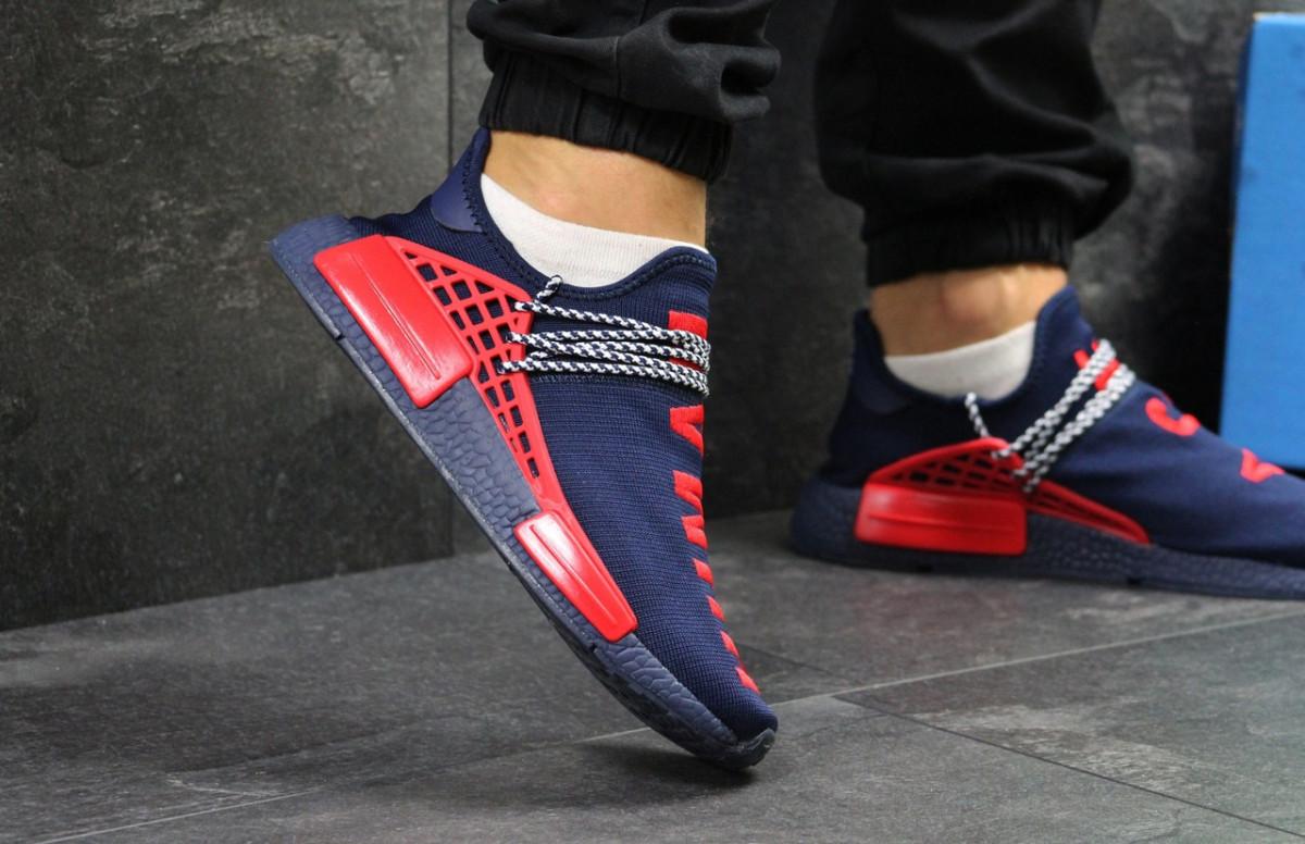 Мужские кроссовки темно синие Adidas Nmd Human Race 7496