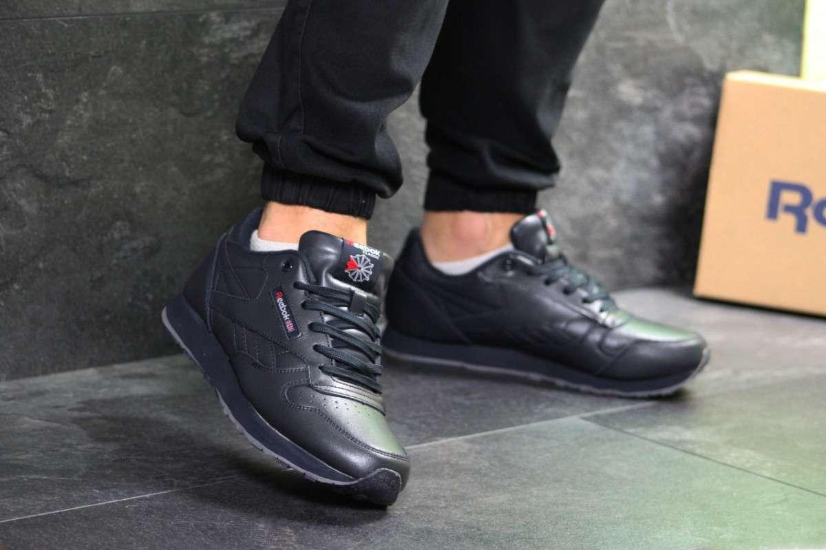 Мужские кроссовки темно синие Reebok Classic 7236