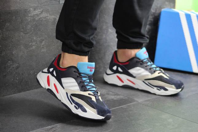Мужские кроссовки темно синие с белым Adidas balance life 7835, фото 2