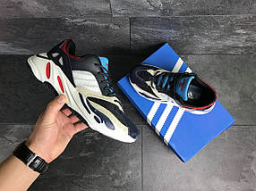 Мужские кроссовки темно синие с белым Adidas balance life 7835, фото 3