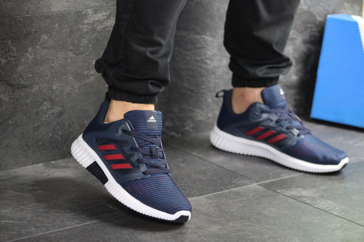 Мужские кроссовки темно синие с белым Adidas Climacool 8031