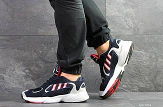 Мужские кроссовки темно синие с белым и красным Adidas Yung 7596, фото 2