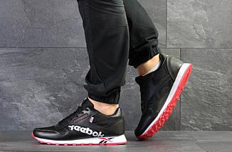 Мужские кроссовки черно белые с красным Reebok 7553, фото 2