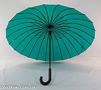 """Однотонный зонтик трость на 24 спицы от фирмы """"Flagman""""., фото 1"""